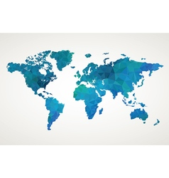 World map geometric pattern vector