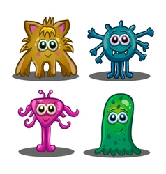 Set of cute cartoon monsters vector