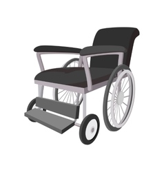 Wheelchair cartoon icon vector