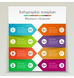 Banner infographic template vector