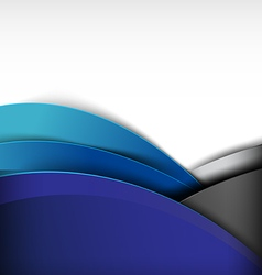 Abstract background curve and overlap layer 001 vector image vector image