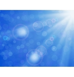 background with shiny sun over a blue sky vector image vector image