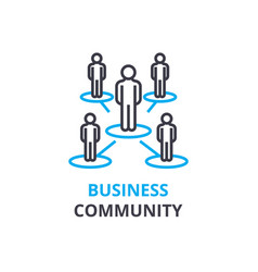 business community concept outline icon linear vector image