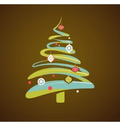 christmas background with xmas tree vector image vector image