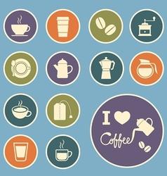 coffee and tea icon vector image vector image