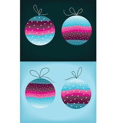 color christmas balls vector image vector image