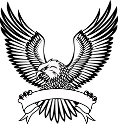 eagle with emblem vector image vector image