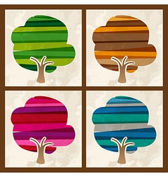 Four season tree set vector image vector image