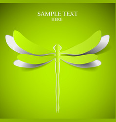 Green dragonfly vector