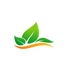 green leaf eco environment logo vector image