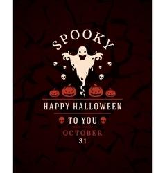 Halloween typographic design background and vector