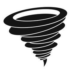 hurricane icon simple black style vector image