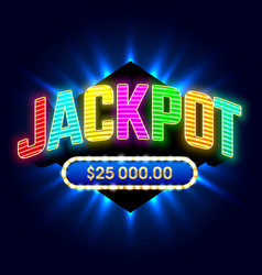 jackpot banner for casino games or lottery mega vector image
