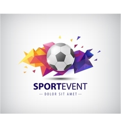 Logo for football teams and tournaments vector