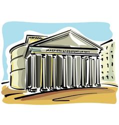 Rome pantheon vector