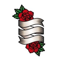 roses tattoo design vector image