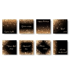 Set of abstract lighting effects vector image vector image