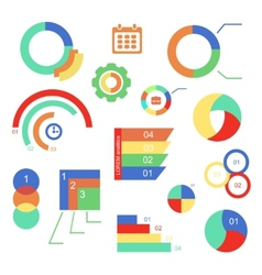 Set of infographics charts and diagrams for your vector image