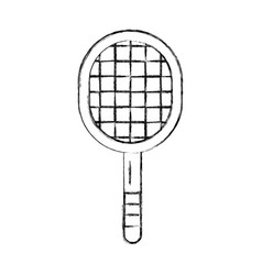 Sketch draw sport racket cartoon vector