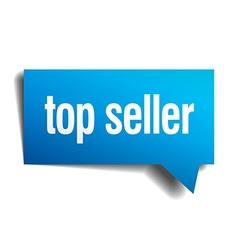 top seller blue 3d realistic paper speech bubble vector image
