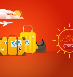 Travel bags vacation concept with bags vector