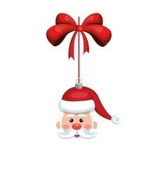 Santa claus decoration vector