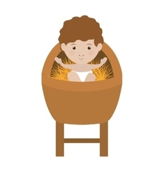 Baby jesus icon vector