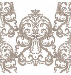 Royal floral damask baroque ornament pattern vector image