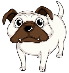 A white bulldog vector