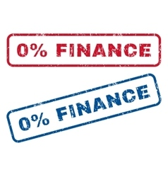 0 percent finance rubber stamps vector