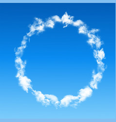 round frame made of clouds vector image