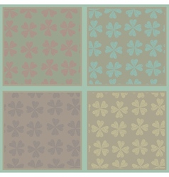 Set of seamless abstract floral patterns vector