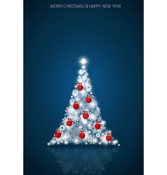 2015 happy new year background with christmas tree vector