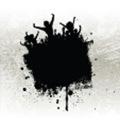 Silhouette of a party crowd on a grunge background vector