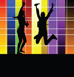 couple in the party vector image