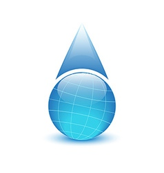 Globe in the form of drops of water environmental vector
