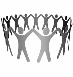 Group symbol people hold hands vector