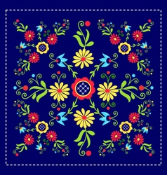Folk pattern decor-d vector