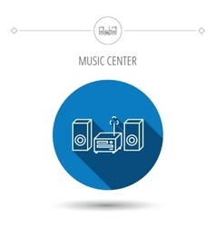 Music center icon stereo system sign vector
