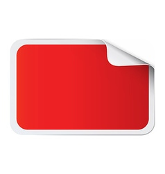 Red sticker on white vector