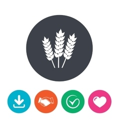 Agricultural sign icon gluten free or no gluten vector