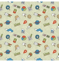 Seo doodle pattern vector