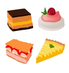 Cakes set vector