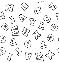 Alphabet seamless pattern letters vector
