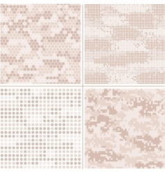 Seamless digital Pixel Camouflage vector image