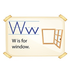 A letter W for window vector image