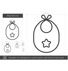 Baby bib line icon vector