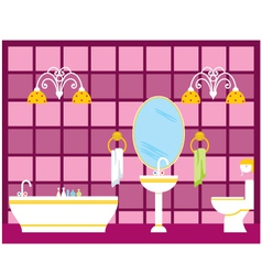 Bathroom vector image vector image