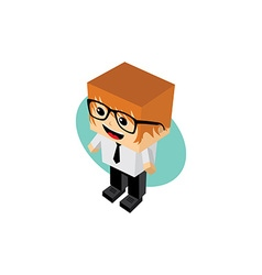 Businessman cartoon character vector