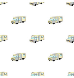 Campervan icon in cartoon style isolated on white vector